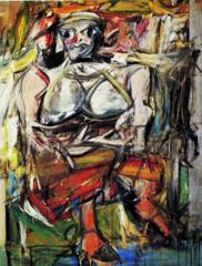 Woman, I. Willem de Kooning. 1950-1952. Oil on canvas