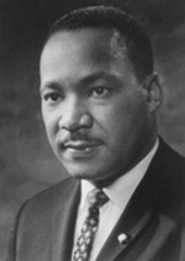 . Won a Nobel Peace Prize in 1964 . I was a leader of the Montgomery, Alabama, bus boycott in 1955 . Nonviolent protest